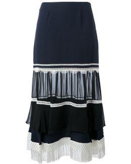 Fringe A-line Skirt