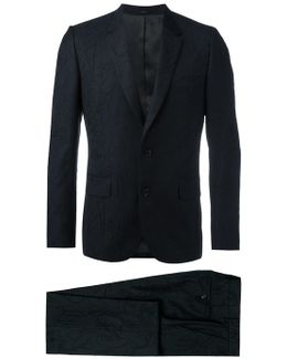 Tonal Embroidery Two-piece Suit