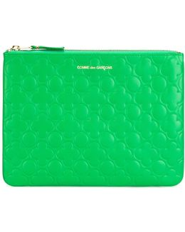 Embossed Zipped Clutch