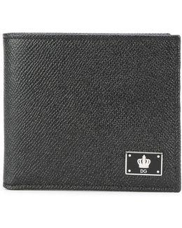 Crown Logo Plaque Billfold Wallet