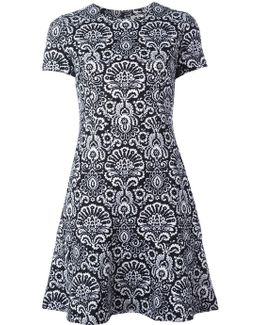 Tapestry Print Flounce Dress