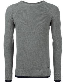Ribbed Trim Sweatshirt
