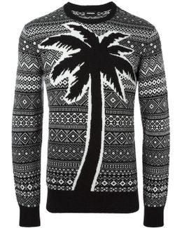 Palm Tree Detail Jumper