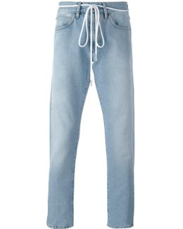 'diagonal Spray' Slim-fit Jeans