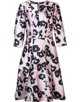 Flower Print Flared Dress