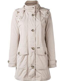 Buttoned Midi Raincoat