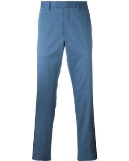 Stretch Gabardine Chino Trousers