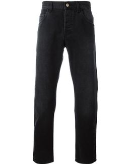 Tapered Jeans With Panther