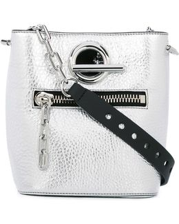 Riot Metallic Leather Bucket Bag