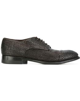 Interlaced Leather Derbies