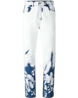 Hand Bleached Relaxed-fit Jeans