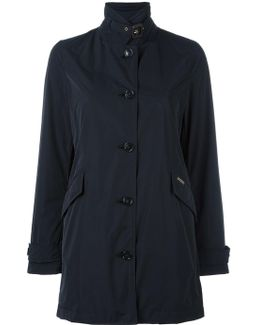 Banded Collar Buttoned Coat