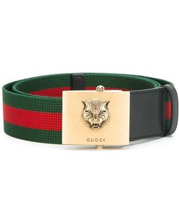 Feline Buckle Web Belt