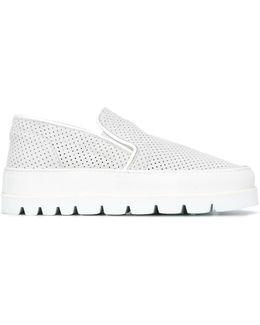 Ridged Sole Slip-on Sneakers