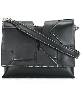 Stitched Panel Cross-body Bag