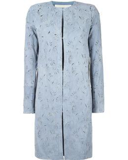 Cut-off Pattern Collarless Coat