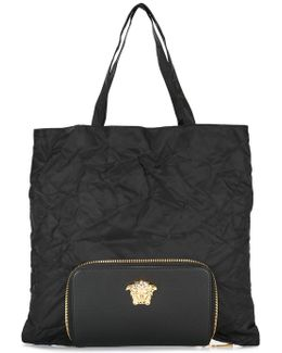 Palazzo Medusa Tote With Detachable Clutch