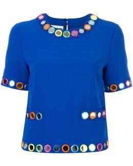 Embellished Shortsleeved Blouse