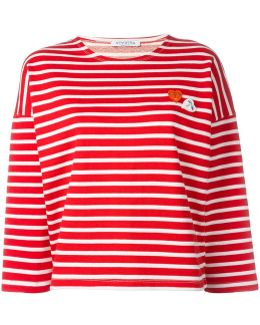 Striped Embroidered Heart Jumper