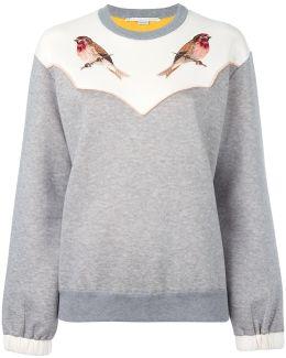 Embroidered Robin Sweatshirt