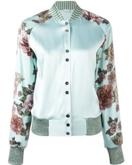 Maps In Bloom Bomber Jacket