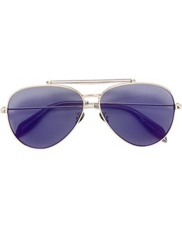 Piercing Shield Aviator Sunglasses