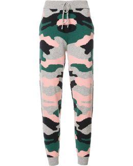 Camouflage Print Track Pants