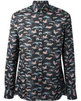Evolutive Cranes Print Shirt