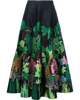 Safari Embellished Midi Skirt