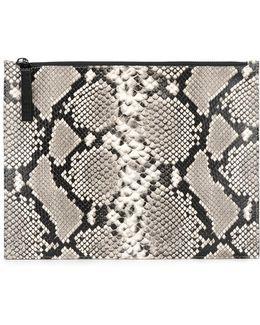 Python Zip Clutch Bag