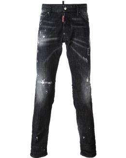 Cool Guy Distressed Whiskering Jeans