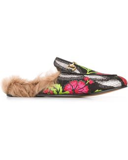 Princetown Floral Brocade Slippers