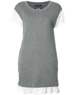 Lace Detailing T-shirt Dress