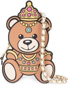 Crowned Teddy Bear Shoulder Bag