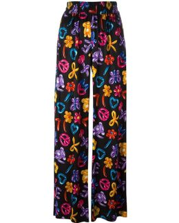 Multiple Prints Straight Trousers