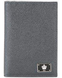 Crown Logo Plaque Wallet