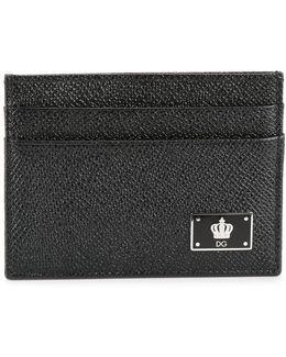 Crown Logo Plaque Cardholder