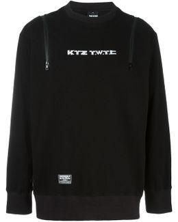 Embroidered Logo Zip-up Sweatshirt