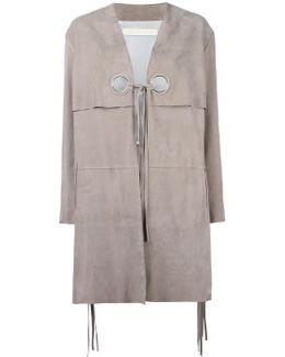 Dove Leather Coat