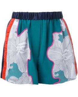 Floral Satin Shorts