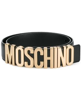 Logo Belt With Gold-tone Hardware