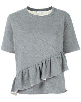 Ruffled Trim Sweatshirt