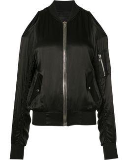 Open Shoulder Bomber Jacket
