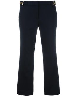 Bell Bottom Cropped Trousers
