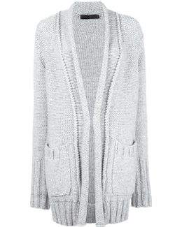 Ribbed Trim Cardigan