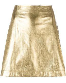 Metallic (grey) A-line Skirt