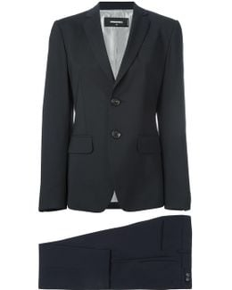 Buttoned Two-piece Suit