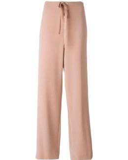 Drawstring Straight Trousers