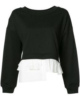 Ruffled Detail Sweatshirt