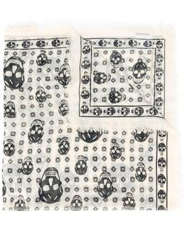 Skull Print Scarf
